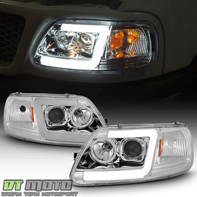 Blk 1997 2003 Ford F150 97 02 Expedition Led Tube Projector