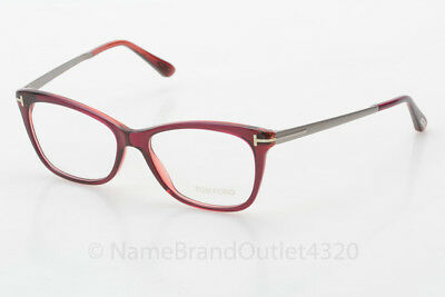 Tom Ford 5353 shiny fuxia silver rectangular plastic frames eyeglasses NEW $470
