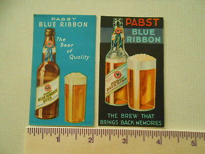 1933 1934 1935 Pabst Blue Ribbon Beer  Brewery 2 Bar And Resturant  Cards