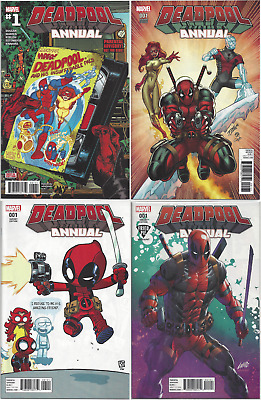 Deadpool Annual #1 ~1st Print, Ron Lim, Skottie Young & Rob Liefeld Variant! NM+