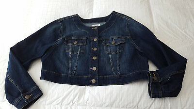 Torrid Women's  Shorty Jean Jacket  Sz.  Sz. 1X PLUS SIZE