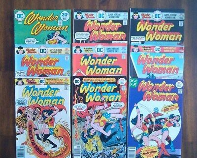 Wonder Woman Bronze Lot #210,221,222,223,224,225,226,227,228 DC Lot of 9