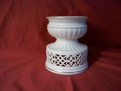Lenox Candle Holder Pierced With Gold Trim Illuminations Collection Versailles