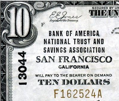 HGR FRIDAY 1929 $10 National ((San Francisco, CA)) AWESOME GRADE