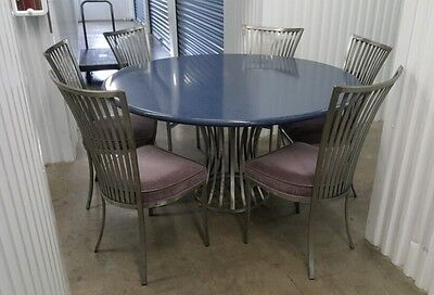 MCM UMANOFF/SHAVER HOWARD Sculptural Dining Room Table 6 Chairs Stunning