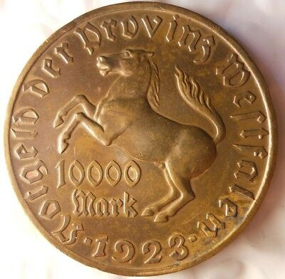 1923 GERMANY (WESTPHALIA) 10000 MARKS - Great Inflationary Coin - Lot #M17