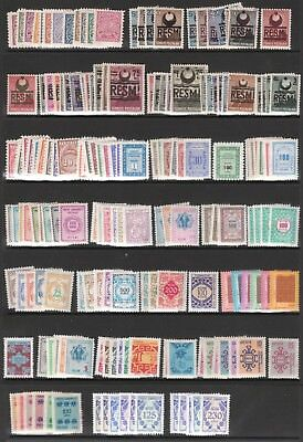 Turkey 1947-84 Mint Official Postage Due Stamp Sets