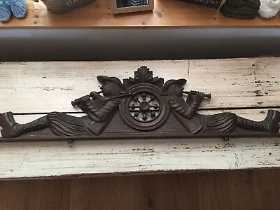 Antique French Carved Wood Architectural  Pediment From Brittany VIII