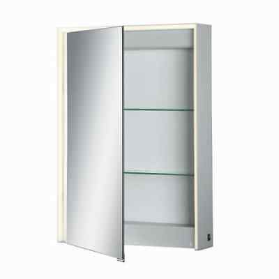 "Eurofase Lighting 31484-015 28"" x 20"" Single Door Mirrored Medicine Cabinet with"