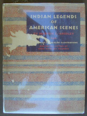 """Old """"INDIAN LEGENDS"""" Chief Whirling Thunder Indian Council Fire 1939 Very Rare"""