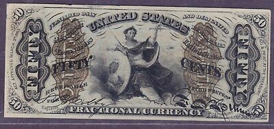 """FR1363 """"1-a"""" 50¢ Justice Fractional w/Inverted Plate #12 ~ PMG58 ~ Real Error!!"""