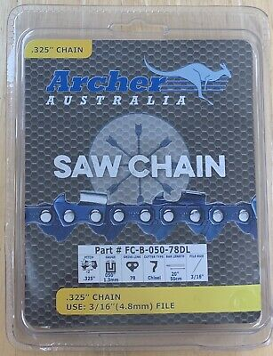 "20"" Chainsaw Chain .325 pitch CHISEL .050 Gauge 78 DL repl. PP4620AVL 952-051310"