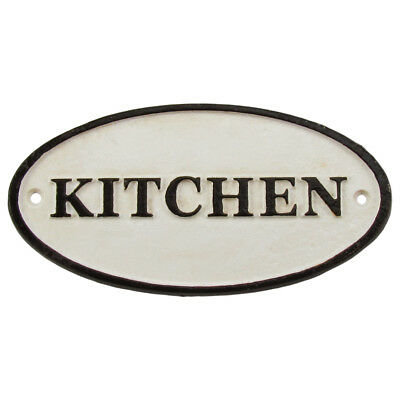 Antique/Vintage Style Cast Iron KITCHEN Wall Sign Old House/Farmhouse/Home Decor