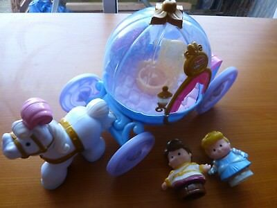 Disney Cinderella Coach And Figures. Fisher Price Little People.sounds & Light