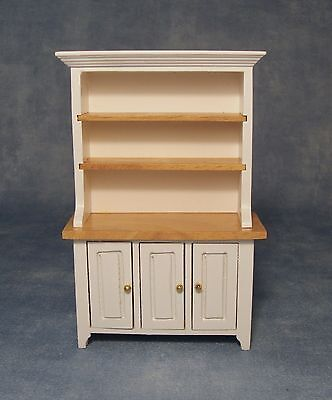 Dolls House 1/12 Scale Kitchen Dresser In White/pine