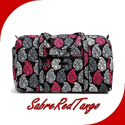 Nwt Vera Bradley Quilted Large Duffel Gym Travelling Bag Floral Northern Lights