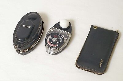 F88011~ Sekonic Studio Deluxe L-28c Meter & Exposure Slide Kit – Clean