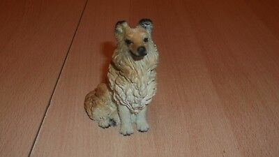 Dipinto a Mano Collie Hundefigur Figur Dekofigur Made in Italy Kunststein?