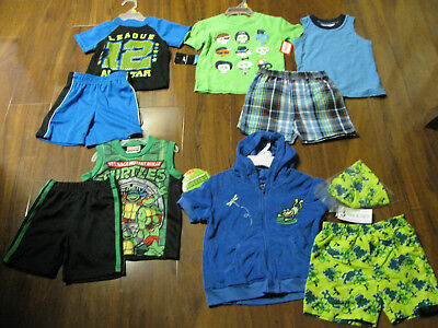 10 Piece Lot of Baby Boys Spring Summer Clothes Size 12 Months NWT 12M New