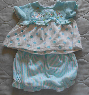 Baby Girl 100% Cotton Oky Dokie 2 Pecs Outfits 3 - 6 m