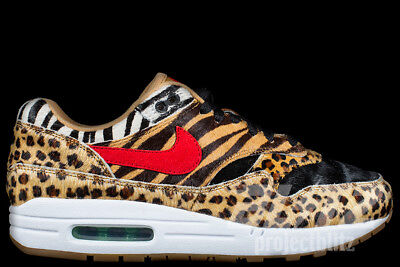 NIKE AIR MAX 1 DLX ATMOS ANIMAL PACK Sz 4-13 WHEAT SPORT RED BISON AQ0928 700