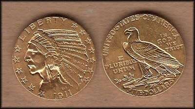 1911-S United States $5 GOLD Indian Head Coin