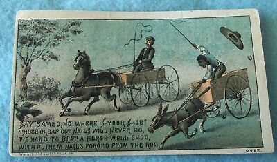 Advertising Victorian 1880's Trade Card....black Americana