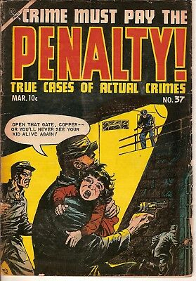Crime Must Pay The Penalty! #37, #41, #43 and #44 lot of 4 Golden-age Comics