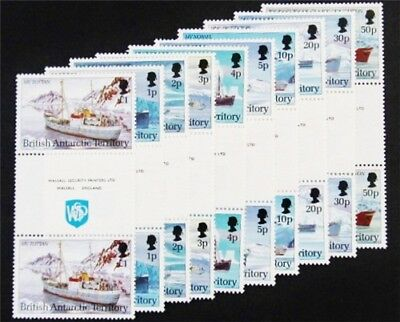 nystamps British Antarctic Territory Stamp # 202-211 Mint OG NH $70 Gutter Pairs
