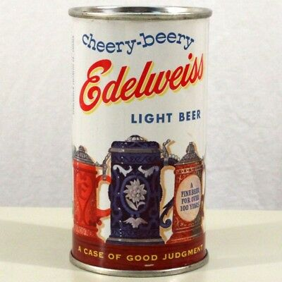 Cheery Beery Edelweiss Light Beer Flat Top Can Schoenhofen Chicago IL 59-6 SWEET