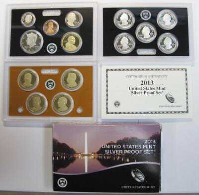 2013-S U.S. Silver Proof Mint Set * 90% Silver Half, Qtrs & Dime * 14 Piece Set