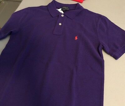 Ralph Lauren Classic Short Sleeve Polo L 14-16 Purple NWT