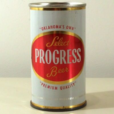 Oklahoma's Own Progress Brewing Select Flat Top Beer Can Oklahoma City --TOUGH--