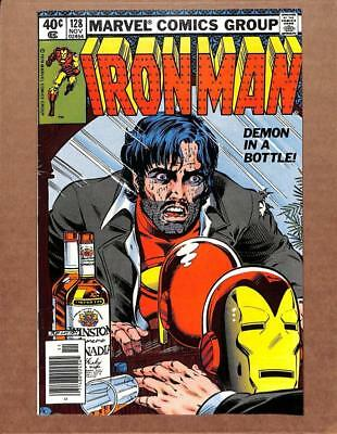 Iron Man # 128 - HIGH GRADE - Tony Stark Alcoholism Cover! MARVEL Comics!