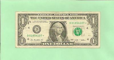 N1S    2009* $1  D 0185 4107 *  ..... Star Note  ......    2009  D-*      Frn