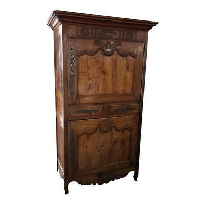 Antique 18th Century French Country Fruitwood Bonnetiere
