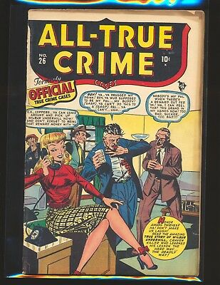 All-True Crime Cases # 26 (# 1) - Syd Shores cover VG Cond.