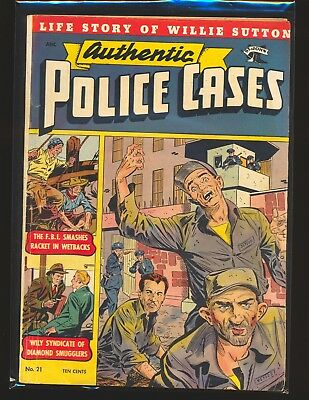 Authentic Police Cases # 21 - Baker art VG/Fine Cond.