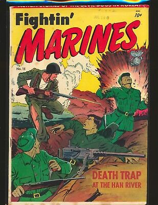 Fightin' Marines # 15 (# 1) - Matt Baker cover & art G/VG Cond.