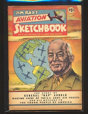 "Jim Ray's Aviation Sketchbook # 2 - General ""Hap"" Arnold Good+ Cond."
