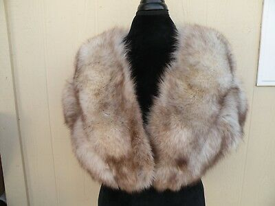 Vintage Fox Fur Wrap Shawl