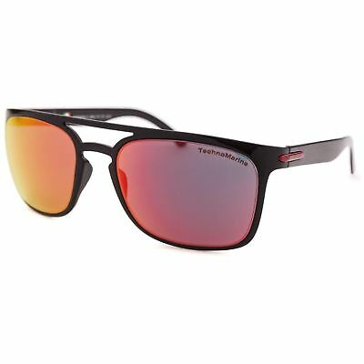 Technomarine Manta Ray TMEW006 Rectangular Mirror Lens Sunglasses Made in Italy