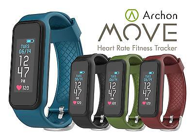 Archon Move Black Heart Rate Fitness Activity Tracker IP 67 Water resistant