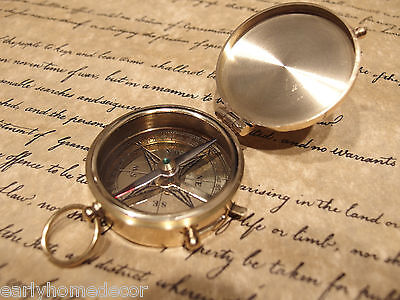 "Vintage Antique Style 2"" Brass Heavy Maritime Navigational Compass"