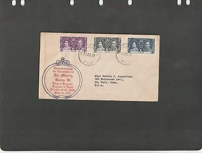 FIJI - FDC COVER CORONATION OF K. George VI