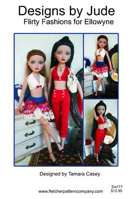Flirty Fashion Doll Clothes Sewing Pattern for Nancy Hermione Tonner