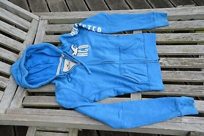 Hollister bleu M sweat zippé à capuche