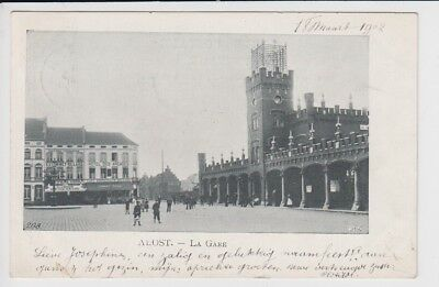 Oude Postkaart CPA Aalst Station 1902