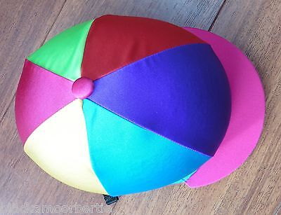 Riding Hat Silk Skull cap Cover PINK PURPLE RED LIME YELLOW TURQUOISE Choose Pom