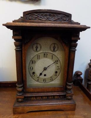 oak cased westminster chimes mantel clock by kienzle